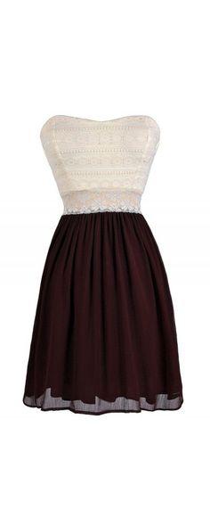 Bright Days Chiffon and Lace Dress in Dark Burgundy