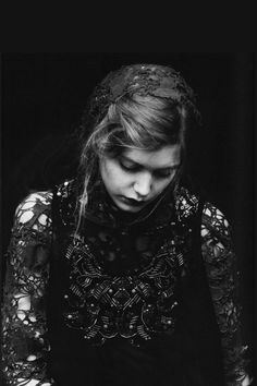 Black and White Portrait Photography A girl Grey Magazine grey-magazine.com