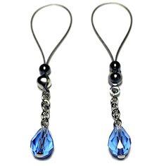 Nipple Jewelry Noose Rings Faceted Teardrop Summer Blue #nipplerings #nipples #nipplenoose #fashionblogger