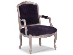 The Limoges is a traditional Louis XV open-armed bergère with a tight seat and back.  The curvy lines integrate beautifully in both traditional and contemporary settings.  The hand-carved hardwood frame is made in Italy and available in Barrymore standard wood finishes as well as any Benjamin Moore lacquer finish or custom finish.