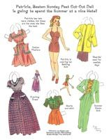 Lucy Eleanor Leary's Patricia & Lizette-Cardstock * 1500 free paper dolls The International Paper Doll Society @QuanYin5 #QuanYin5 Arielle Gabriel artist *
