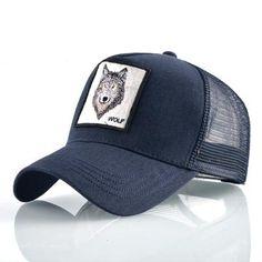 7cae20c5ae6da Cotton Snapback caps for mem Breathable Mesh Baseball Cap women Wolf  Embroidery Hip Hop Hat Women s