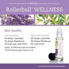 Skin Soothe :: Rollerball WELLNESS Make & Take Workshop Kit #essentialoils…