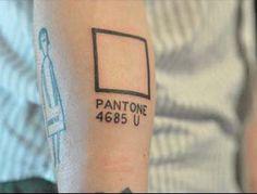 Pantone tatoo