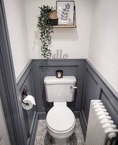 Small Downstairs Toilet, Small Toilet Room, Downstairs Cloakroom, Small Bathroom, Bathroom Ideas, Bathrooms, Wc Retro, Toilet Room Decor, Bathroom Under Stairs