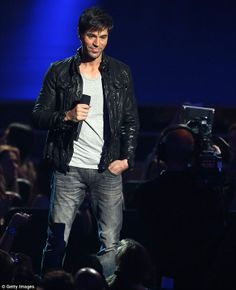 Enrique Iglesias announcing the 2014 Grammy Awards nominees. via dailymail.co.uk