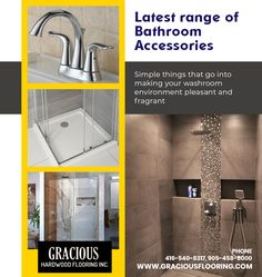 Gracious Hardwood Flooring Inc. offers an attractive and latest range of #BathroomAccessoriesinBrampton for your bathroom.  Visit our store located at 72 Devon Rd, Unit 12, #Brampton ON L6T 5E7 #Canada  Ph: 416-540-8317, 905-458-8000  #BathroomAccessories #BathroomVanities #BathroomFixtures #VanitiesforBathroom #Faucets #Drain #ShowerDoors #ToiletSeats #ShowerPanel #ShowerJamb #ShowerBase #ShowerFloor #BathroomNiche #GraciousHardwoodFlooring #FlooringStore #BathroomAccessoriesStore Bathroom Niche, Washroom, Bathroom Fixtures, Shower Base, Shower Floor, Accessories Store, Bathroom Accessories, Flooring Store, Shower Panels