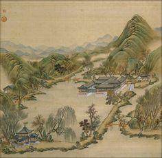 Tang Dai(唐岱) , 清 沈源、唐岱 圆明园四十景图 法国巴黎国家图书馆藏