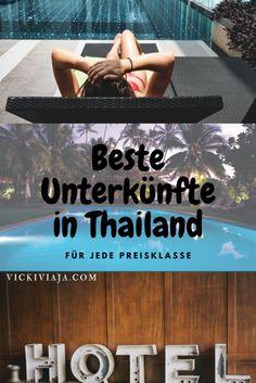 Beste Unterkünfte in Thailand I Budget bis Luxus I Günstig bis Luxus I Schlafsaal bis Privatzimmer I @vickiviaja