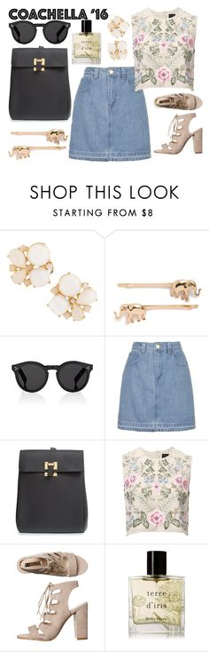 """Untitled #718"" by poshandy ❤ liked on Polyvore featuring Kate Spade, Berry, Illesteva, Topshop, Sophie Hulme, Needle & Thread, Billini and Miller Harris"