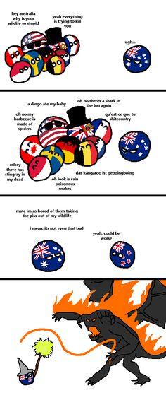 Dangerous Wildlife ( Australia, New Zealand ) by arrz  #polandball #countryball