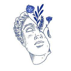 History Illustration US presidents - - Art Inspo, Inspiration Art, Tattoo Drawings, Art Drawings, Blue Drawings, Doodle Tattoo, Tattoo Art, Art Du Croquis, Art Graphique