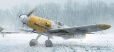 Bf 109 in the snow