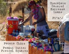 Aloha Aid Station - trail races have the BEST food.