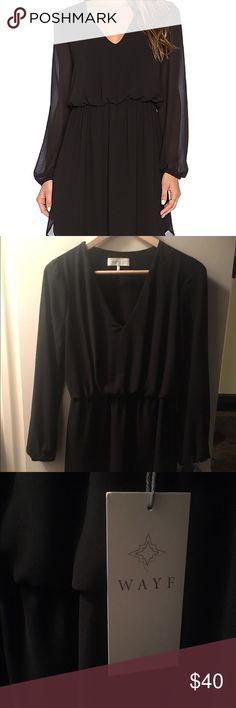 Wayf V Neck Dress in Black XS New with tags Wayf Dresses Mini
