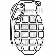 How to Draw a Grenade | Hand Grenade vector illustration