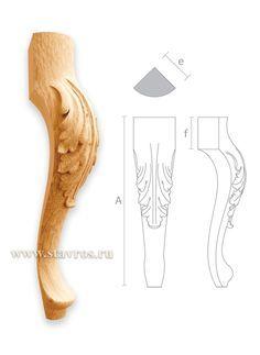 ножка с акантовым листом MN-004