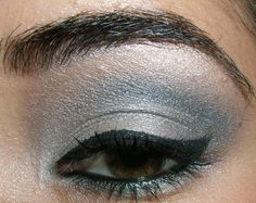 Look - Smokey Eyes with Gray and Silver