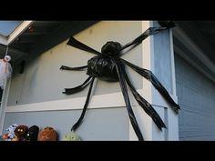 DIY Trash Bag Halloween Spider SUPER EASY - YouTube