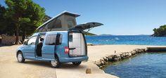 Minicamper Camp auf Volkswagen Caddy langer Radstand
