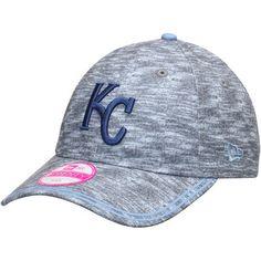 Women's Kansas City Royals New Era Heathered Gray Midnite Tech 9TWENTY Adjustable Hat