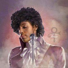 Prince art by Cynthia Blair
