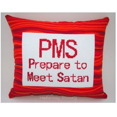 Funny Cross Stitch Pillow