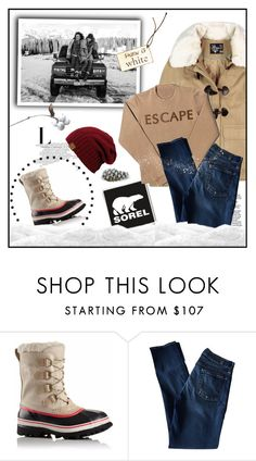 """""""Introducing the 2015 Winter Collection from SOREL: Contest Entry"""" by ana-angela ❤ liked on Polyvore featuring SOREL, 7 For All Mankind and sorelstyle"""