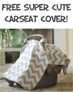 FREE Super Cute Carseat Canopy! {just pay s/h} ~ these make great baby shower gifts, too! #babies #thefrugalgirls