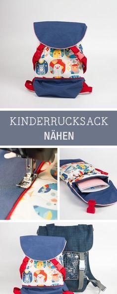 Nähanleitung für einen süßen Kinderrucksack für den Kindergarten / sewing tutorial and pattern for a kids backpack via DaWanda.com