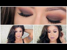 Warm Brown Smokey Eye | Kat Von D Shade and Light Eye Palette - YouTube