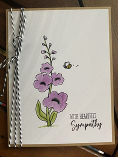 Heartfelt sympathy – June 21, 2021 – Endless Creations Rubber Stamps Sympathy Cards, Stamps, 21st, Bee, Thoughts, Seals, Honey Bees, Bees, Postage Stamps
