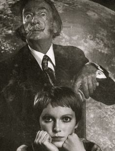 Salvador Dali and Mia Farrow by Philippe Halsman (1964)