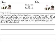 an imaginative readers response sheet to leo lionnis frederick