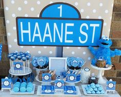 cookie monster party supplies - Buscar con Google