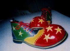 clown shoes Clown Shoes, Big Top, Combat Boots, Inspirational, Christmas Ornaments, Holiday Decor, Shoes, Christmas Jewelry, Christmas Decorations
