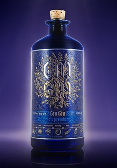 Gin Gin on Packaging of the World - Creative Package Design Gallery Alcohol Bottles, Wine Bottle Labels, Liquor Bottles, Label Design, Packaging Design, Graphic Design, Brand Packaging, Product Packaging, Beverage Packaging