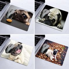 2016 Sale New Design High Quality Cute Animal Funny Pugs Rubber Anti-slip Mouse Mats For Pc Computer Laptop Notbook Gaming Mat