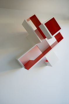 Brantt - Red-20/120.90.90, 120 x 90 x 90 cm., high gloss paint on MDF