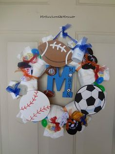 Sports themed baby shower ( neat ideas on this site)