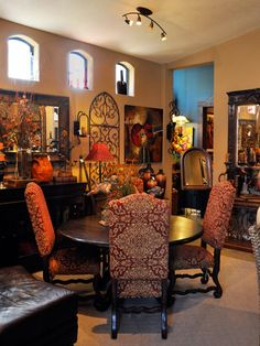 Love the table and chairs. Tuscan Dining Room Furniture in the Accents of Salado showroom. We ship dining room furniture nationwide.