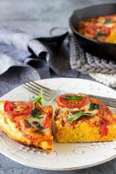 skillet margarita polenta pizza 4 -SimpleHealthyKitchen.com