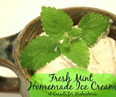 From the Garden: Fresh Mint Homemade Ice Cream Recipe