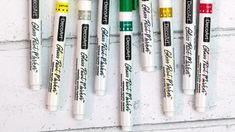 Create custom glass or ceramics on anything you want with these specially formulated opaque Glass Paint Markers™. Faux Stained Glass, Fused Glass Art, Mosaic Glass, Painting On Glass Windows, Glass Painting Designs, Glass Paint Markers, Spray Paint Furniture, Stone Painting, Rock Painting