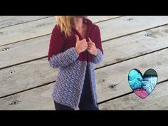 Crochet: Abrigo cardigan chaqueta mujer tejido a crochet parte 2/3 - YouTube
