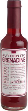 Stirrings grenadine: a real grenadine, with pomegranate juice