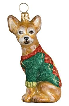 Joy to the World Collectibles 'Dog in Argyle Sweater' Ornament available at #Nordstrom