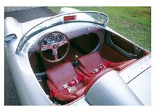 Loren Hulber's 1955 Porsche 550 Spyder is one of only about 150 built from 1953 to 1956. The sheet metal behind the cockpit lifts as a unit to expose the engine and transaxle.Loren Hulber of Upper Milford Township found this...