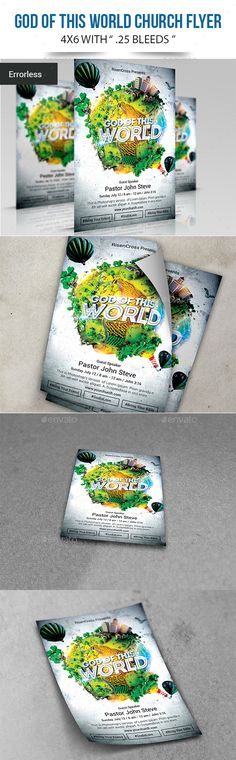Church Christian Themed Poster Flyer Bundle#2 Flyer template - christian flyer templates