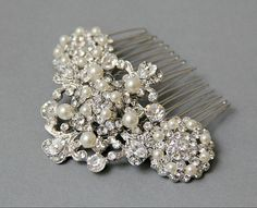 Bridal Hair Comb Vintage Style Wedding Hair by LavenderByJurgita, $71.00